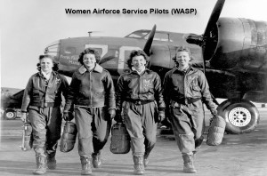 Group of Women Airforce Service Pilots and B-17 Flying Fortress